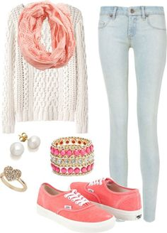 Cute casual outfit for school