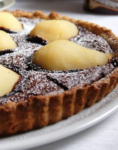 chocolate pear tart recipe by lucia