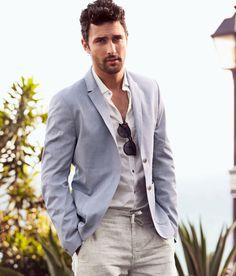 summer blazer & casual pants