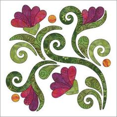 (7) Name: 'Quilting : Applique Block - Radiant