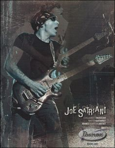 Joe Satriani (Chickenfoot) Signature Ibanez JS guitar ad 8 x 11 advertisement Guitar Parts, Guitar Chords, Acoustic Guitar, Joe Satriani, Schecter Guitars, Ibanez, Guitar Magazine, Guitar Rack, Steve Vai