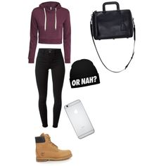 A fashion look from January 2015 featuring H&M hoodies, J Brand leggings and Timberland boots. Browse and shop related looks.