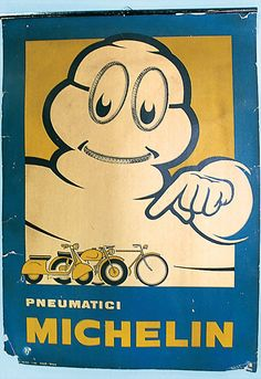 MICHELIN Poster 1963 Italy Michelin Man, Michelin Tires, Vintage Signs, Vintage Ads, Vintage Posters, F1 Motor, Luhan, Tired Man, Tire Art