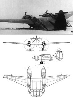 "the Belyayev DB-LK (""long-range bomber - flying wing""), circa 1939"
