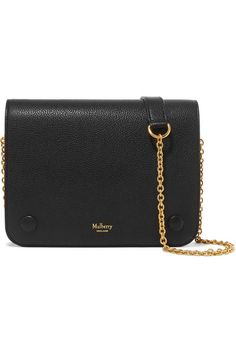 Black textured-leather (Cow) Snap-fastening front flap Comes with dust bag.  Mulberry ... 255c44c666
