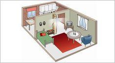 Hasební technika Q-fog v bytových prostorech. Europe, Bathroom, Washroom, Full Bath, Bath, Bathrooms
