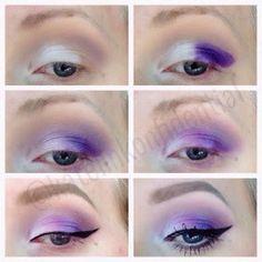 Purple steps look using UD electric palette