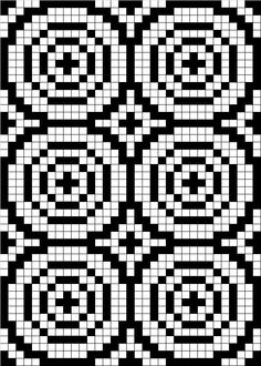 filet-crochet-chart-pattern-circle/ this is two-tone tapestry crochet/needlepoint/knit Filet Crochet Charts, Crochet Cross, Knitting Charts, Knitting Stitches, Tapestry Crochet Patterns, Bead Loom Patterns, Cross Stitch Patterns, Fair Isle Chart, Knitted Mittens Pattern
