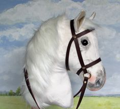 A custom made hobby horsing horse from photos supplied.