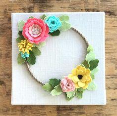 Felt Wreath felt wreath baby felt flowers felt flower wall