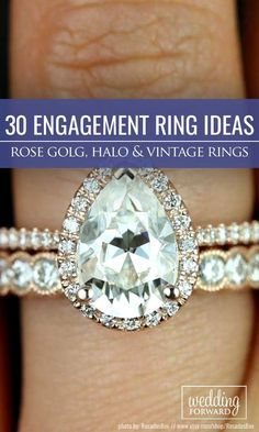Engagement Rings : Engagement Ring Inspiration To Make A Right Choise  Hand crafted halo vinta