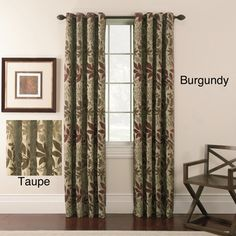 @Overstock.com - Chenille Leaf Grommet Top 63-inch Panel Pair - Bring a touch of botanical charm to any room with these 63-inch leaf-print curtains. This pair of curtains features an all-over botanical print. The curtains can be hung on a decorative curtain rod thanks to grommet-top construction.  http://www.overstock.com/Home-Garden/Chenille-Leaf-Grommet-Top-63-inch-Panel-Pair/6997473/product.html?CID=214117 $42.29