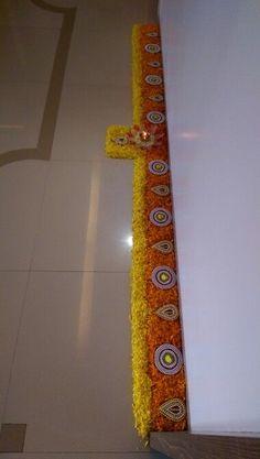 creative ideas for festival decoration ~ Crazzy Craft Rangoli Designs Flower, Rangoli Patterns, Rangoli Ideas, Rangoli Designs Diwali, Diwali Rangoli, Flower Rangoli, Beautiful Rangoli Designs, Flower Designs, Diwali Diy