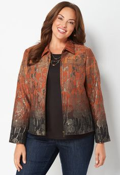 b4a7a8e6d53f2e Find the perfect plus size jacket at Christopher and Banks. Our collection  includes denim jackets, a wardrobe staple for any woman, and lightweight  jackets ...