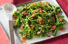 Bacon broccolini...I think hubbster would even eat!