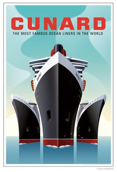 This modern poster is in the style of the ocean liner advertisements. The final poster could be completed in this style in order to convey style, power, convenience and dominance to the viewer.