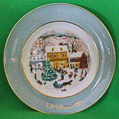 1980 Enoch Wedgwood (England) Country Christmas Collector Plate