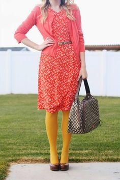 Bird Dress + Yellow Tights | The Pretty Life Girls