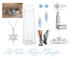 """""""The Snow Queens Daughter <3 Crystie"""" by dark-wings02 ❤ liked on Polyvore featuring Heidi Klein, Swarovski, Bling Jewelry, Alexis Bittar, Lipstick Queen, Kim Rogers, Monsoon and ToeSox"""