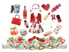 """""""Strawbebby!"""" by orbangel ❤ liked on Polyvore featuring Kate Spade, NARS Cosmetics, Michael Kors, ESCADA, Salvatore Ferragamo, Christian Lacroix, Whimsical Watches, Enelle London, Isaac Mizrahi and Ulster Weavers"""