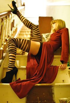 Red Maxi DRess, Zebra Tights. Bandage Tights, Kurt Geiger Suede Boots, Blonde Hair, Blog Style, Whisty