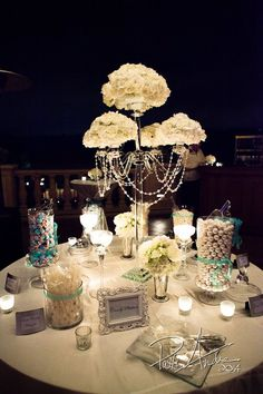 Tiffany blue candy station - the grand del mar http://www.pattiandrephotography.com/wedding