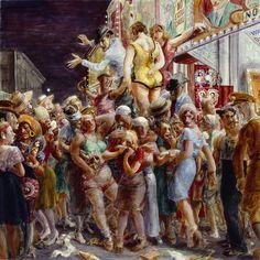 Reginald Marsh's Coney Island | The Artstor Blog
