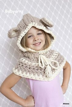 Hey, I found this really awesome Etsy listing at https://www.etsy.com/listing/204105073/bear-hat-crochet-knit-hoodie-cape-scarf