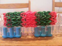 Perfect for the holidays!! Christmas All Around Triple Single Bracelet by RainbowLoomLover, $3.75
