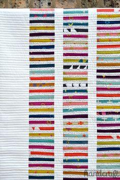Modern Handcraft / Blogger's Quilt Festival: Read between the lines