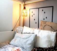 My Room, Bed Pillows, Pillow Cases, Diy, Blog, Home, Pillow Beds, Wood Slats, Cage Light
