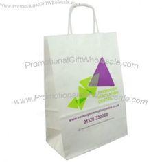 Kraft Twist Handled White Paper Bags