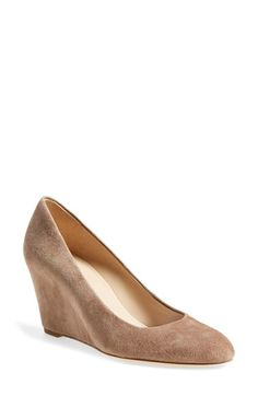 Via Spiga 'Darby' Covered Wedge Almond Toe Pump (Women) available at #Nordstrom