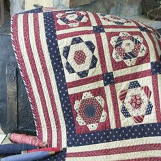 Free Patriotic Quilting Pattern: Patriot's Home