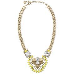 Stella & Dot Norah Pendant (200 BRL) ❤ liked on Polyvore featuring jewelry, necklaces, stella & dot, yellow, accessories, stella dot necklace, stella dot jewellery, sparkly necklace, yellow necklace and pendant necklace
