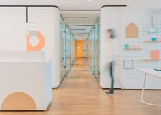 """RIGI designs waiting area """"like a dining room"""" for friendly dental clinic in China Clinic Design, Healthcare Design, In China, Visual Merchandising, Children's Clinic, Dental Office Design, Dental Surgery, Tianjin, Waiting Area"""