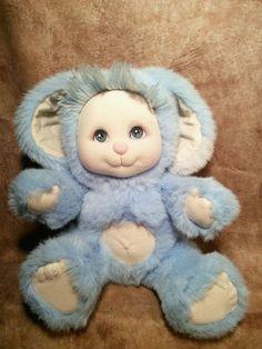 Very Rare Vintage Mattel My Child Pet blue baby boy Bunny Rabbit Plush Toy doll  #Mattel #Dolls