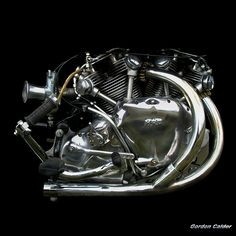 NO 36: CLASSIC VINCENT SERIES B HRD RAPIDE MOTORCYCLE ENGINE by Gordon Calder