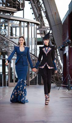 #shilpareddystudio #fashion #malkha #indian #parisian #eiffeltower #fashionshow #jessicaminhanh #autumn/winter #dress #paris #shilpareddy #jessicaminhanh #ramp #powershoulders