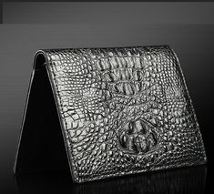 Genuine Crocodile Leather Mens Classic Black Continental Wallet | www.pilaeo.com
