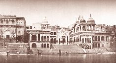 This is a very old image of Vishram Ghat in Shri Mathura Ji