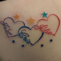 The 25 best Tattoos with kids names ideas on Infinity name tattoo, Infinity tattoo with names and Kid name tattoos, click now. Heart Tattoos With Names, Heart Tattoo Images, Name Tattoos For Moms, Little Heart Tattoos, Tattoos For Kids, Tattoo Kids Names, Family Name Tattoos, Butterfly Tattoos With Names, Tattoos For Daughters Name