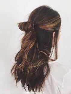 Hair hair styles hair color hair cuts hair color ideas for brunettes hair color ideas Messy Hairstyles, Pretty Hairstyles, Wedding Hairstyles, Everyday Hairstyles, Long Brown Hairstyles, Toddler Hairstyles, Long Haircuts, Layered Haircuts, Updo Hairstyle