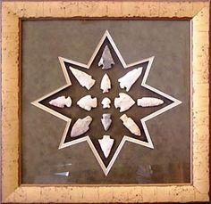 Cool layout for framed arrowheads.