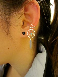 Dream catcher ear cuff... What a great idea, you get the effect of multiple earrings but don't have to have multiple piercings.