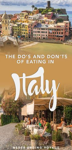 Dos and Don'ts of Eating in Italy Let's be honest, most of us go to Italy to eat. Well, here's a guide on the dos and donts of eating in Italy so you don't make any rookie mistakes. European Vacation, Italy Vacation, European Travel, Italy Trip, Italy Italy, Honeymoon In Italy, Tuscany Italy, Cool Places To Visit, Places To Travel