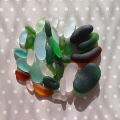 perfect sea glass shapes found on the beaches of the Mediterranean Sea, Italy #seaglass #mediterranean #italianseaglass #beachcombing #italy #sea #aqua #green #seafoam