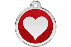Red+Dingo+Glitter+Enamel+Tag+Heart+Red+0X-HT-RE+(XHTRS+/+XHTRM+/+XHTRL)