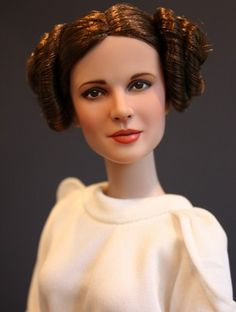 OOAK Princess Leia: Mrs Coulter repaint by Sashableu, outfit and reroot by Rebeccas Gallery