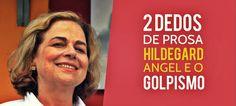 Hildegard Angel fala ao 2 Dedos de Prosa sobre cenário político Hoje temos o Instituto Millenium, que reúne os maiores empresários do país. Em 64 havia o Ipes, Instituto de Pesquisas Econômicas e Sociais. Com os donos de empresas que apoiaram o golpe e suas fortunas se multiplicaram.